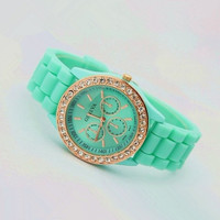 Mint Color Silicone Watch 02 from AsbestosAccessories