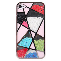 Fashion Cool Colourful Sliding Polygon Mirror Hard Cover Case For Iphone 4/4s/5