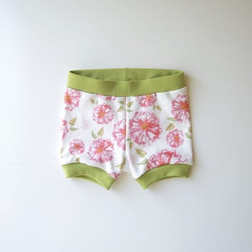 Floral Blooms Organic Baby Shorties [Stationery Bakery Collaboration]