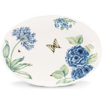 "Butterfly Meadow® 16"" Large Oval Platter by Lenox"