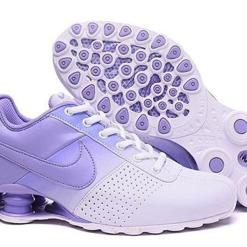 Women's Nike Shox OZ D Shoes White/Purple