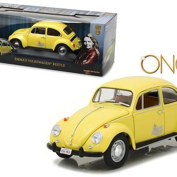 """Emma\'s Volkswagen Beetle Yellow \""""Once Upon a Time\"""" TV Series (2010-Current) 1/18 Diecast Model Car by Greenlight"""