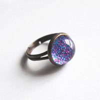 Adjustable Glitter Ring