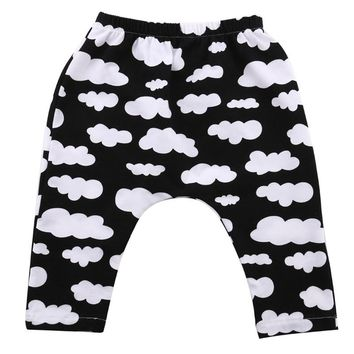 Cute Toddler Kids Baby Boy Girl Harem Pants Trousers Slacks Bottoms Clothing Infant Print Cotton Soft Causal Long Pants New 0-3Y