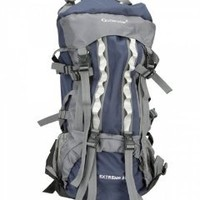 80L Outlander Professional Waterproof Backpack Shoulders Bag Travelling Hiking Camping Bag Dark Blue + Grey