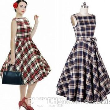 2017 Hot Selling Audrey Hepburn 1950 Rockabilly Casual Dresses Ball Gown Vintage
