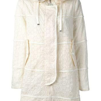 Moncler Broderie Anglaise Hooded Parka