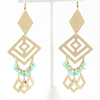 MINT TRIBAL BEADED EARRINGS