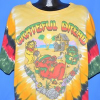 90s Grateful Dead Positive Vibrations Tie Dye t-shirt 3XL