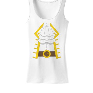 Pirate Captain Costume Gold Womens Tank Top