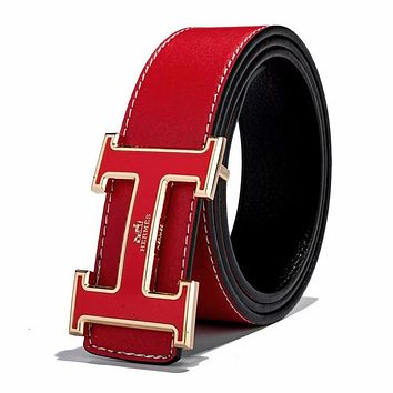 Hermes Width 3 CM Fashion New H Letter Buckle Women Men Leisure Personality Belt