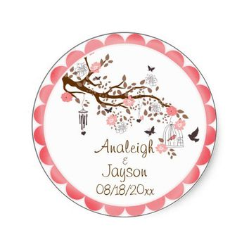 Bliss Wedding Envelope Seals or Favor Stickers from Zazzle.com