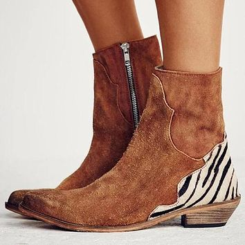Autumn Winter Classic Women Leather Boots Shoes