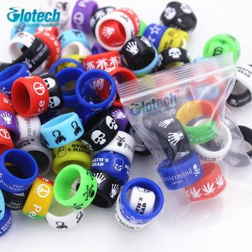 Glotech 50Pcs/Lot silicone rubber band vape ring for mechanical mods rda rba decorative and protection vape ecig Non Slip band
