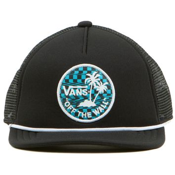 Vans Glitch Check Trucker Boys Hat