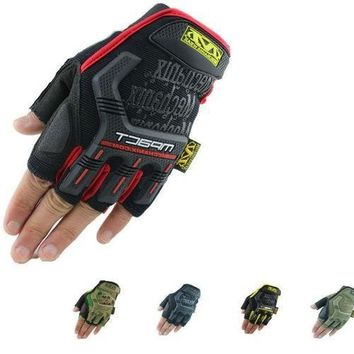 NEW  fingerless Outdoor mountain bike sports work gloves, Mechanix Wear M-Pact tactical half gloves 5 color