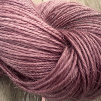 Hand Dyed Yarn - Old Roses - Baby Alpaca/Silk - 4 ply Fingering Weight Yarn 100gr