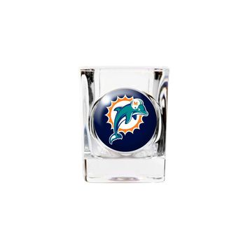 Miami Dolphins 2oz Square Shot Glass - Etching Personalized Gift Item