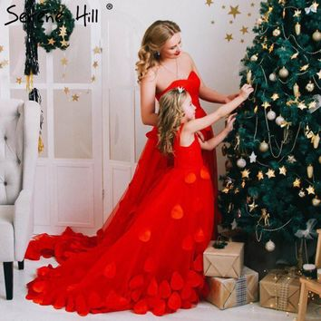 Royal Photography Red New Flower Petals Wedding Dresses Sexy Women Girl Wedding Dress Gown