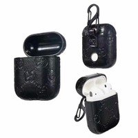 GG EMBOSS AIRPODS CASE - BLACK