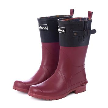 Short Wellington Boots in Black and Burgundy by Barbour - FINAL SALE