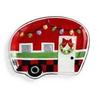 "Holiday Camper Shaped Plate - 11x8.5"" by Demdaco"