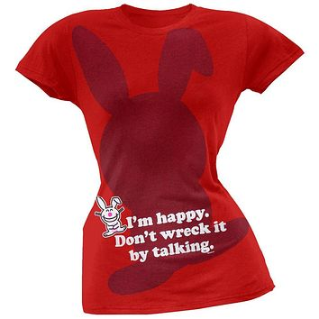 Happy Bunny - I'm Happy Juniors T-Shirt