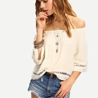 Hollow Out Strapless T Shirt 11039