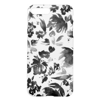 Black and White Floral Pattern iPhone 7 Plus Case