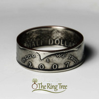 Kennedy Half Dollar Ring - Heads Out