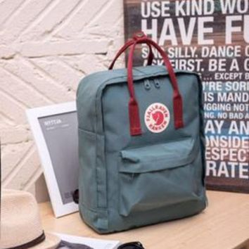 PEAPDQ7 Fjallraven Kanken Durable Backpack Gray Blue School Bag