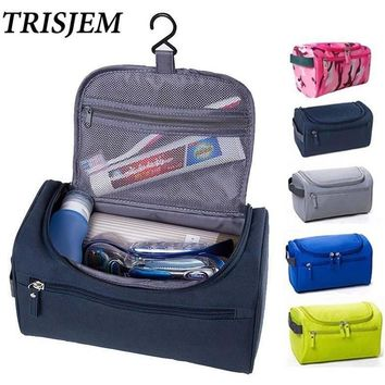 Waterproof Men Hanging Makeup Bag Nylon Travel Organizer Cosmetic Bag for Women Large Necessaries Make Up Case Wash Toiletry Bag