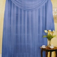 "216"" LONG SCARF TOPPER, BLUE SHEER VOILE, 60"" WIDE"