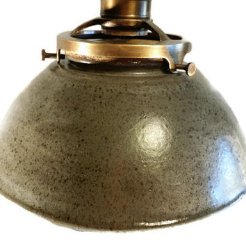 Pendant Light Handmade pottery Industrial Ceiling light. Remodeling or have a restaurant?