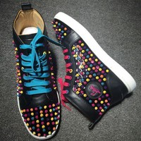 DCCK2 Cl Christian Louboutin Louis Spikes Style #1847 Sneakers Fashion Shoes