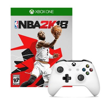 Xbox One Controller in White with NBA 2K18