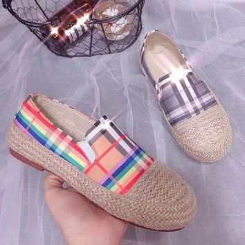 Burberry Women Fashion Espadrilles Flats Shoes