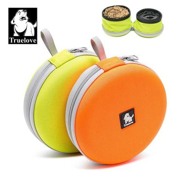 Truelove foldable Pet Bowl Travel Frisbee Collapsible 2 bowls for Water Food Feeding Waterproof Portable Dog Bowl dog supplies