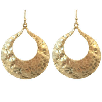 Time Telling Earrings In Gold