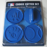 MLB Los Angeles Dodgers Officially Licensed Set of Cookie Cutters