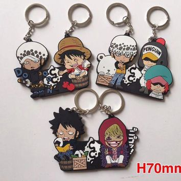 Cool Attack on Titan Mix  6pcs  silicone  Key Ring Cover Holder Pendant Hadbag Bag Charms  Jewelry Gift Y-95 AT_90_11