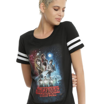 Stranger Things Poster Athletic Girls T-Shirt