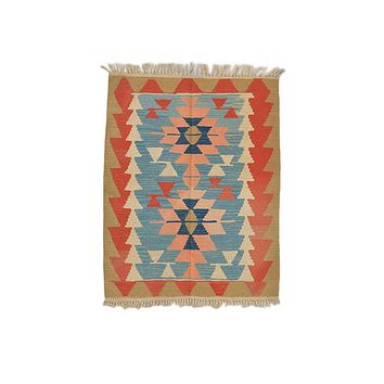 "Turkish Kilim Turkish 2' 10"" X 3' 8"" Handmade Rug"