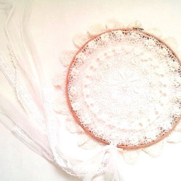 Large white dream catcher, dream catcher, dream catcher, large dream catcher,  white dream catcher, lace dream catcher, white lace dreamcatc