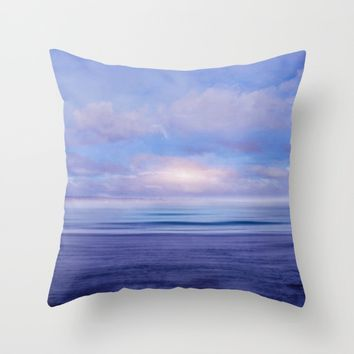 The Sea is Calm 02 Throw Pillow by NaturalColors