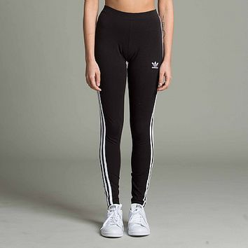 Womens Three Stripe Leggings
