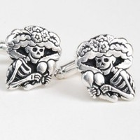 Posada Catrina Cuff Links | paperfacestudio - Accessories on ArtFire
