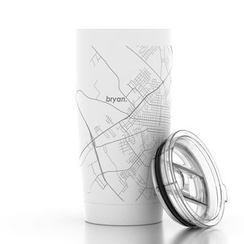 City Map 20 oz Insulated Pint Tumbler