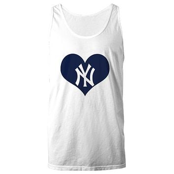 New York Baseball Heart Lover Bx Bomber Baseball Tank Top
