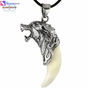 New Man Wolf Tooth Necklace Titanium Steel Domineering Pendant Jewelry